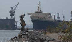 Terry Francois Blvd Rock Balancers 8-2018 (daver6sf@yahoo.com) Tags: tfb rockbalancers portofsanfarncisco horizontalspirit containership pier70 shipyard sanfranciscobay whirleycrane
