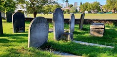 No Century Makers Here (standhisround) Tags: graveyard kew kewgreen cricket graves tombstones gravestones grass buildings green trees people england stannes churchyard ancient uk