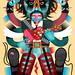 La obra de Cocolvú se caracteriza por un singular colorido y por crear ilustraciones con un estilo propio que, al mismo tiempo, recuerdan a los símbolos y raíces de su México natal. Para más información: www.casamerica.es/exposiciones/cocolvu-mexico