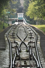 Funicular Railaway, Prague, Czech Republic (Manoo Mistry) Tags: prague pragueczechrepublic europe holiday tourism tourist nikon nikond5500 tamron tamron18270mmzoomlens funicular funicularrailaway railway tracks