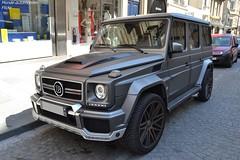 Mercedes Brabus G63 AMG B63-620 (Monde-Auto Passion Photos) Tags: voiture vehicule auto automobile mercedes brabus g63 g63amg amg gris grey mat sportive rare rareté 4x4 suv luxe