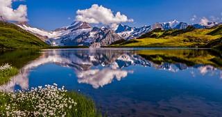 Reflections at lake Bachalp