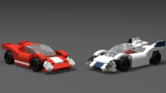 Lego Porsche 917 and KH (MechanicalMenu) Tags: porsche lego motorsports racing le man 917 kh red white car