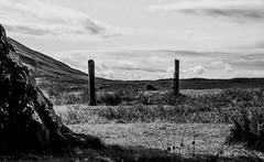 broken gate (Fearghàl Nessbank) Tags: nikon d700 blackwhite monochrome rural art gate landscape scotland