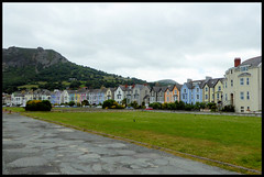 Colourful frontage at Llanfairfechan. (Country Girl 76) Tags: frontage houses hotels seaside llanfairfechan north wales prom grass shrubs mountain
