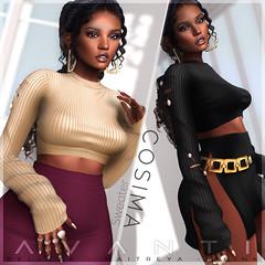 Avanti @ Tres Chic: Cosima Sweater (Intoxicate @ Second Life) Tags: avanti clothing event 3d fashion fantasy fall mesh original sl secondlife shopping style treschic virtualreality