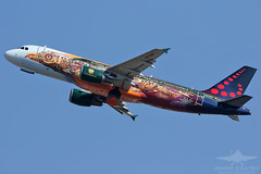 OO-SNF A320 BRUSSELS AIRLINES (QFA744) Tags: oosnf a320 brussels airlines