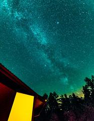 Ciel polonais (jérémydavoine) Tags: ciel sky night nuit noc pologne poland polska lubelskie las forest forêt voielactée galaxy galaxie milkyway