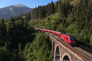 Railjet sui ponti
