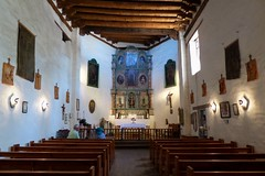 San Miguel Mission (Interior) (Garry9600) Tags: lumix fz200 santafe newmexico building church architecture sanmiguelmission chapel interior