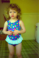 The height of fashion (backbeatb00gie) Tags: child madison sweetie swimsuit todler daughter curly redlips 40mm nikon