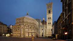 The Cathedral of Santa Maria del Fiore, Florence (Neha & Chittaranjan Desai) Tags: florence firenze italy tuscany cathedral santa maria del fiore the duomo twilight tower dome dawn blue hour architecture city square town