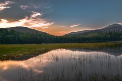 Lake Placid Adirondacks (Mountain lakes dreaming) Tags: green pond sunset highpeaks adirondack lakeplacid connerypond