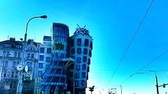 Dancing house | Prague (maryduniants) Tags: bluesky praha praga prag architecture czechrepublic europe building blue prague frankgehry