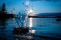 watersplash (christianviktorsson) Tags: canon 50d 1022mm rängen sunset water watersplash