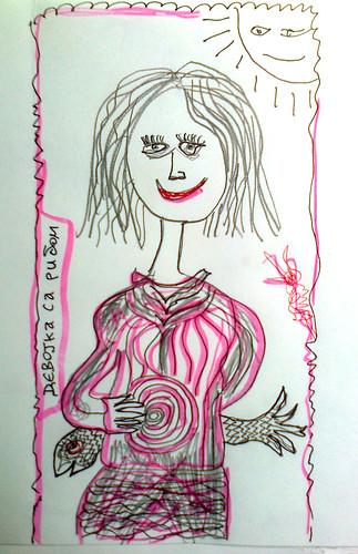 девојка са рибом (girl with a fish)