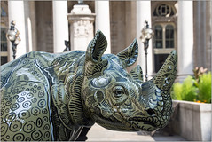 """A D's Rhino"" (Mabacam) Tags: 2018 london tusk adsrhino thetuskrhinotrail rhino rhinoceros conservation sculpture artinstallation charity chriswestbrook theroyalexchange bank adamdant horns animal"