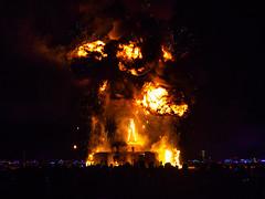 Fire ball, Burning Man 2018 (g1rlwithacurl) Tags: burningman brc 2018 city blackrockcity blackrockdesert nevada desert highdesert brc2018 dust thankslarry fireball pyrotechnics fireworks