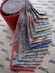 JELLY ROLL (Patchwork Daily Desire) Tags: jellyroll patchworkdailydesire red crafts green scraps spring sky quilt