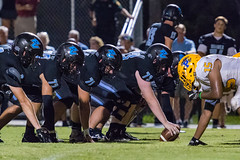 """PVHS v. Palatka-301 (mark.calvin33) Tags: football field sport ball """"high school"""" """"ponte vedra high pvhs block tackle rush run pass catch receiver blocker """"running quarterback fumble completion reception hike pitch snap """"friday night lights"""" fans stands kick """"end zone"""" """"nikon 2018 win athletics athletes """"night photography"""" """"sharks football"""" back d7100"""