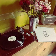 Pink Floyd 'The Wall' (boloveselvis) Tags: 1979 roger waters david guilmor nick mason guilmore dave rick richard wright gilmour thewall rockopera classicvinyl double lp akai bt100 turntable marshallamp flowers sideboard marks spencer spencers