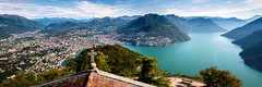 Monte San Salvatore - Panorama (uhu's pics) Tags: schweiz tessin lugano monte san salvatore panorama fuji himmel see landschaft