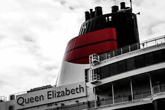 Queen Elizabeth, Cunard Liner, Liverpool Pierhead 8.9.11 (bobbex) Tags: merseyside liverpool cruiseship cruiseliner cunard ship