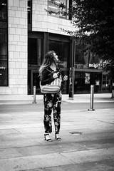 Looking up! (gwpics) Tags: people mono woman southampton streetphotography uk english editorial england everydaylife female hampshire hants lady lifestyle monochrome person socialcomment socialdocumentary society streetscene streetphotos streetpics unitedkingdom bw blackwhite blackandwhite street streetlife