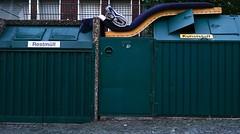 Dormitory (frankdorgathen) Tags: alpha6000 sony sony35mm südviertel ruhrpott ruhrgebiet essen urban mülltonne trashcan banal mundane strase street streetphotography matratze mattress