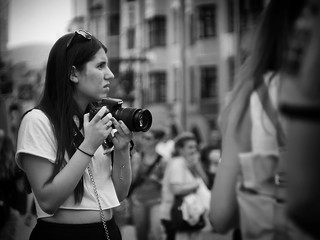photographer in the crowd