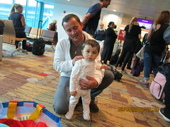 Watching me watching you (RubyGoes) Tags: travellers changi airport singapore father son woman boarding sinsyd