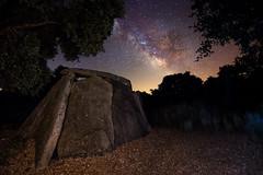 Between holm oaks and megalithics (Javiralv) Tags: night milkyway stars astrophotography megalithic spain noche víaláctea estrellas astrofotografía megalitico dolmen españa cáceres extremadura valenciadealcántara