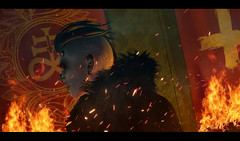 [ D e f i l e d ] (Ranmyaku Haiku) Tags: demon burn fire hell god devil 3d secondlife sl rp dark smokey