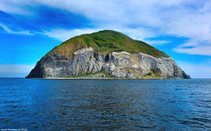 Scotland West Coast seabird breading island Ailsa Craig from the west 1 July 2018 by Anne MacKay! (Anne MacKay images of interest & wonder) Tags: scotland west coast seabird breading island ailsa craig sea ocean cliff cliffs view 1 july 2018 picture by anne mackay greenscene