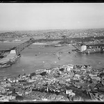 Arches of the Sydney Harbour Bridge under construction, looking east, 1929-1932, Milton Kent thumbnail