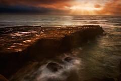 Muriwai Beach Fishing Rock (lightmunkey) Tags: nikon nikon2470f28 landscape seascape