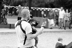 Father and Son (chase_lyda) Tags: father son dad food hat people park kids child family boise downtown idaho canon cameras