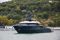 Ocean's Four (460 EXP) - 42m - Sanlorenzo (Raphaël Belly Photography) Tags: rb raphaël monaco raphael belly photographie photography yacht boat bateau superyacht my yachts ship ships vessel vessels sea motor mer m meters meter ocean's four 4 42m 42 sanlorenzo 460 exp 460exp blue bleu bleue white blanc blanche bianco bianca imo 9818022 mmsi 248362000