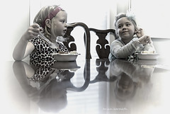 Let them eat cake (birthday party) (Brian Kermath (e.h.designs)) Tags: girls girl people cake birthday reflections reflection birthdayparty tinted