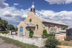 San Ysidro Church (Tom Kilroy) Tags: church architecture christianity religion chapel cross cultures buildingexterior builtstructure history famousplace outdoors old spirituality summer white village sky nopeople sanysidro newmexico