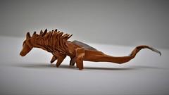Origami Amargasaurus cazaui 1.3 (Tankoda) Tags: origami paper art travis nolan amargasaurus argentina spikes horns sauropod early cretaceous cazaui mesozoic dinosaur tankoda