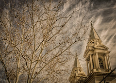Church of Saint Patrick (el-liza) Tags: architecture building church tower tree sky historic clouds