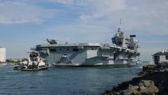 HMS Queen Elizabeth (R08) (Nozzr) Tags: british britishnavy royalnavy seniorservice warship aircraftcarrier queenelizabethclass r08 flagship flagshipofthefleet cvf portsmouth portsmouthharbour