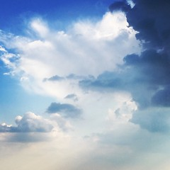 simply clouds (chpaola) Tags: clouds sky italy light boscochiesanuova lessinia august summer blue white storm rain