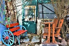Please, take a seat! (Κώστας ex Tungmay) Tags: bench door patio