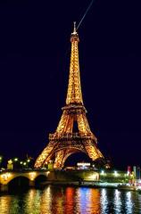 Eiffel Tower (Alexander Tumashov) Tags: steeple famous place dusk building exterior tower architecture cityscape international landmark travel destinations townscape historical eiffel night illumination