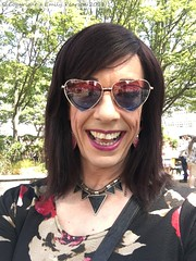 July 2018 - Hull Pride (Girly Emily) Tags: crossdresser cd tv tvchix tranny trans transvestite transsexual tgirl tgirls convincing feminine girly cute pretty sexy transgender boytogirl mtf maletofemale xdresser gurl glasses dress hull pride rainbow lgbt parade march