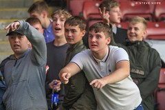 Doncaster Rovers youth at Scunthorpe United (SteveH1972) Tags: northlincolnshire lincs youth portraits canon lincolnshire people kids teenagers mob supporters outside outdoor outdoors uk 2018 scunny scunthorpe canon7d 7d canon70200 nonis football soccer face faces europe leaguecup doncasterrovers
