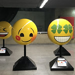 Emoji esculptures, República Subway Station, São Paulo, Brazil. thumbnail