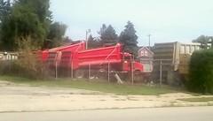 Red dump trucks -HTT (Maenette1) Tags: dump trucks red parked menominee uppermichigan happytruckthursday flicker365 allthingsmichigan absolutemichigan projectmichigan